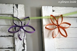 Paper Towel Roll Flower Tutorial