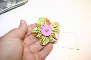 Fabric Flower #1 Tutorial