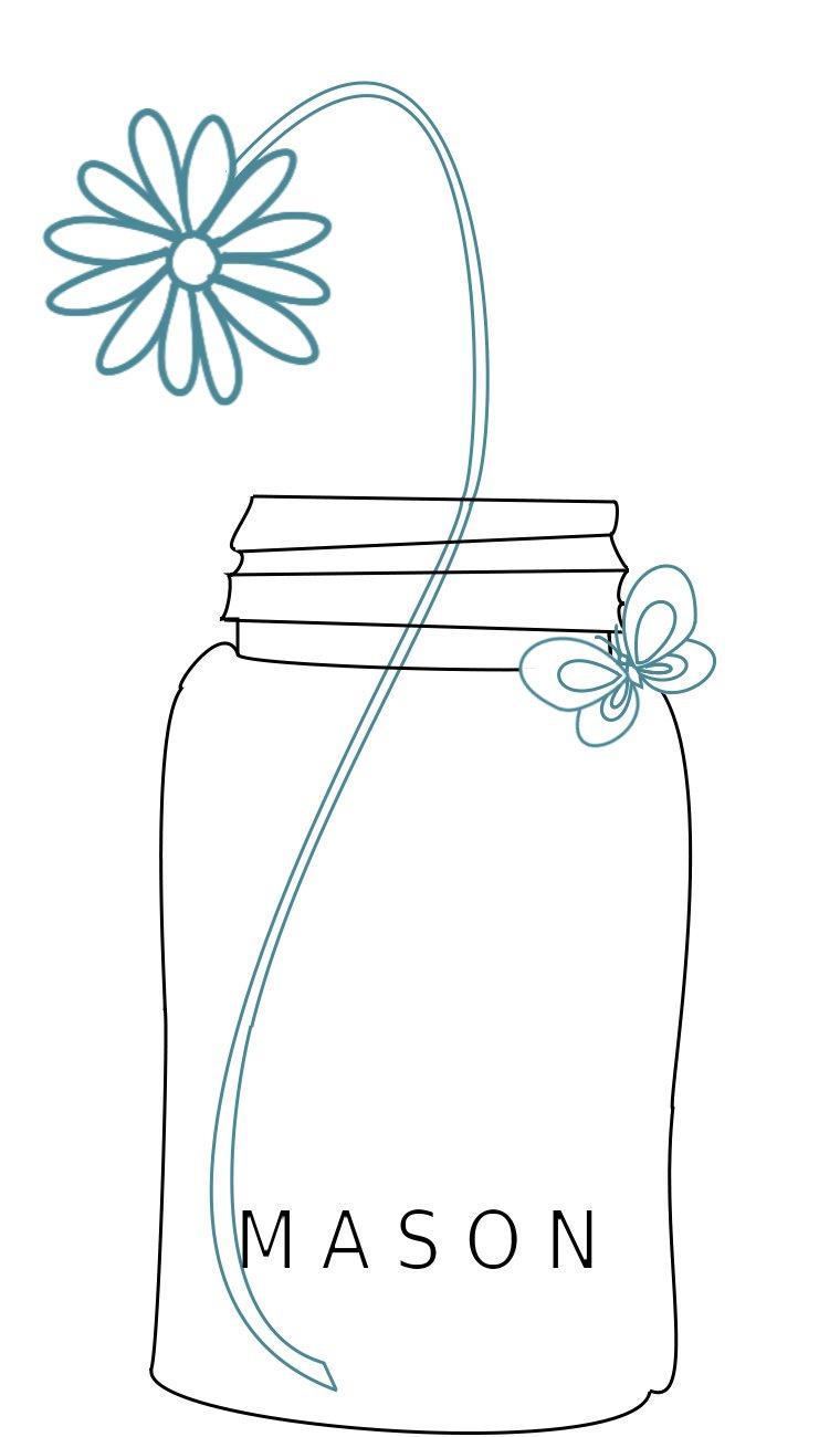 Daisy Mason Jar Free Embroidery Pattern