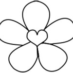 Flower With Heart Free Embroidery Pattern