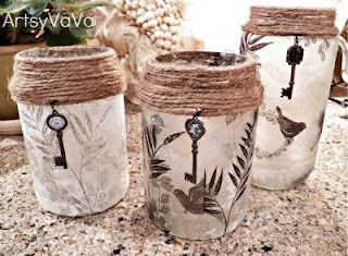 Upcycled Pickle Jar Tutorial