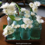 Blue Jars Centerpiece Tutorial