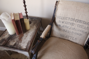 Wanna Be Restoration Hardware Burlap Chair Tutorial