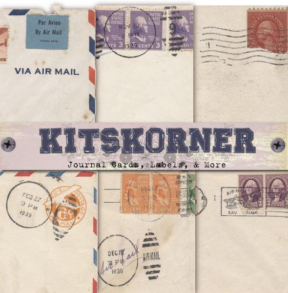 Vintage Mail Journal Cards CU Freebie