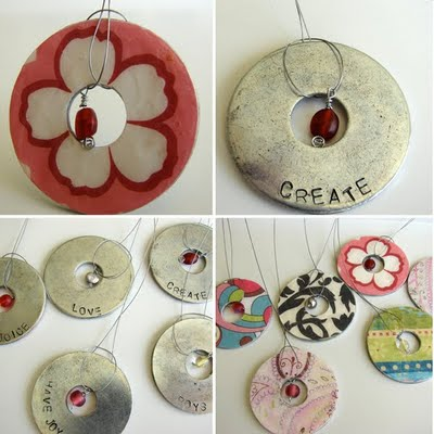 Washer Pendants Tutorial