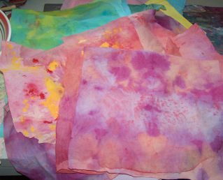 Dyed Paper Towels Tutorial