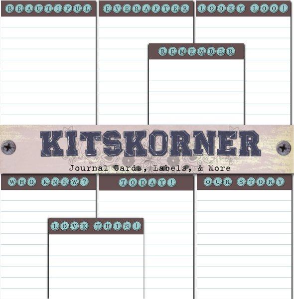 Lined Type Keys Journal Cards CU Freebie