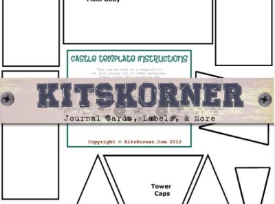 picture relating to Printable Castle Template known as Freebies : Printable Castle Template kitskorner