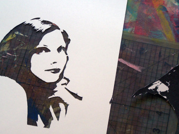 Self Portrait Stencil Tutorial