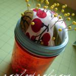 DIY Jar Pin Cushion Tutorial