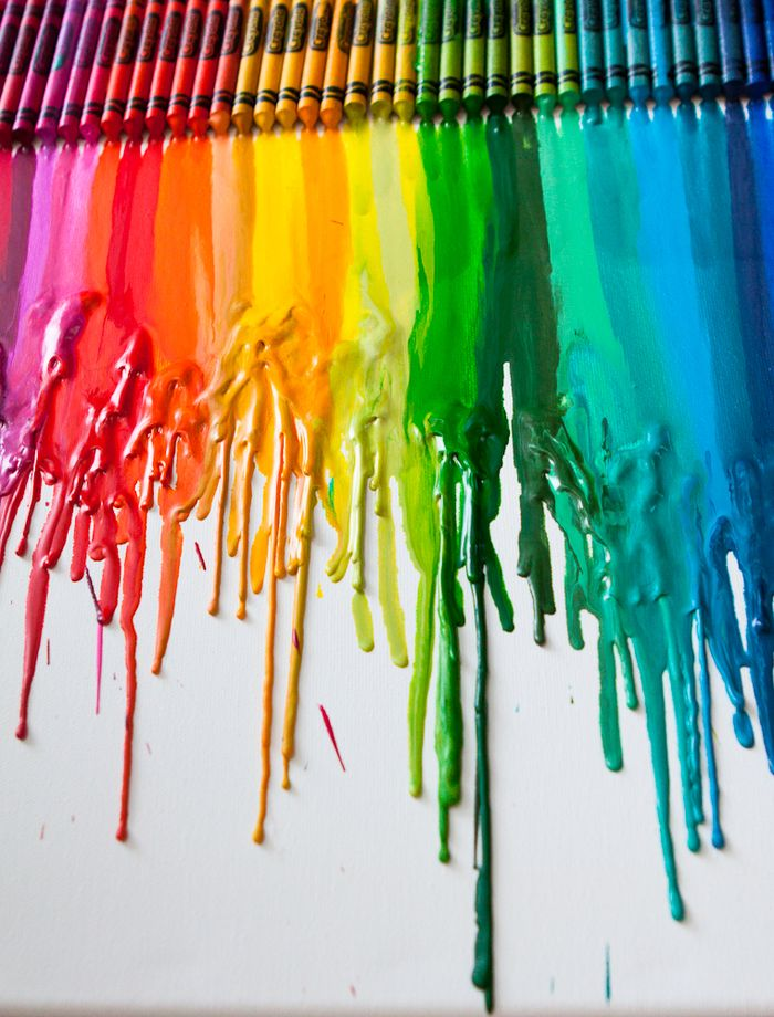 Melted Crayon Tutorial by Meg Duerksen