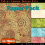 Spiral Grunge Scrapbook Paper Pack CU Freebie