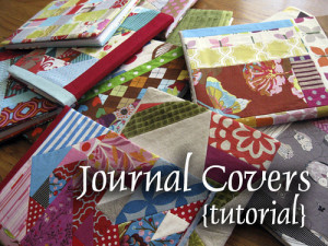 Fabric Pieced Journal Cover Tutorial