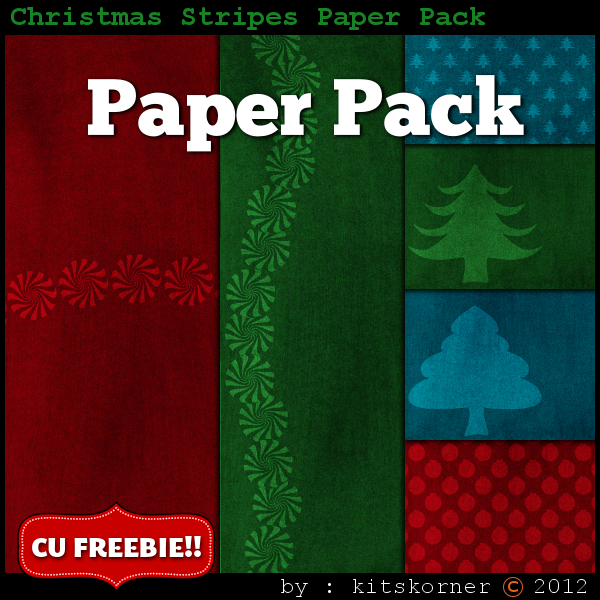 Christmas Digital Scrapbooking Paper Packs (3)