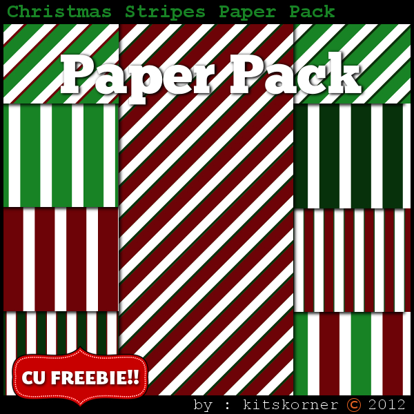 Christmas Digital Scrapbooking Paper Packs (2)