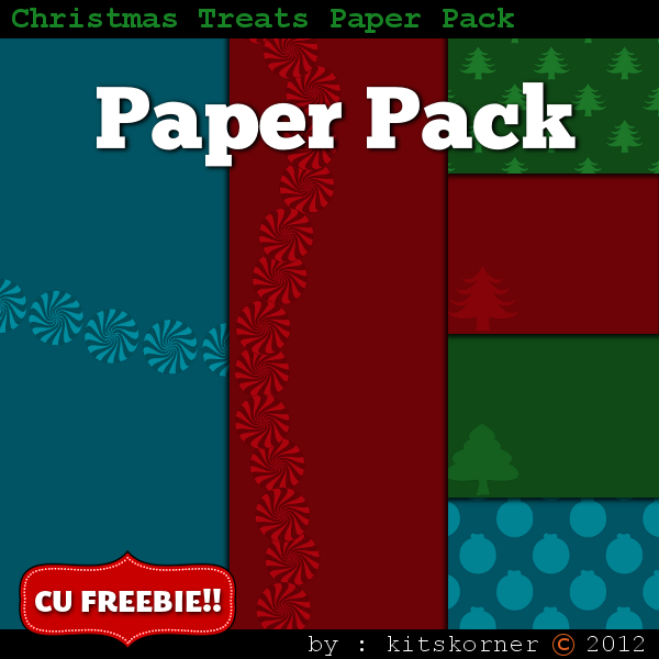 Christmas Digital Scrapbooking Paper Packs (1)