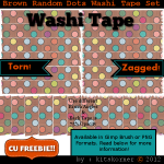 Brown Random Dots Washi Tape CU Freebie Brushes & PNG