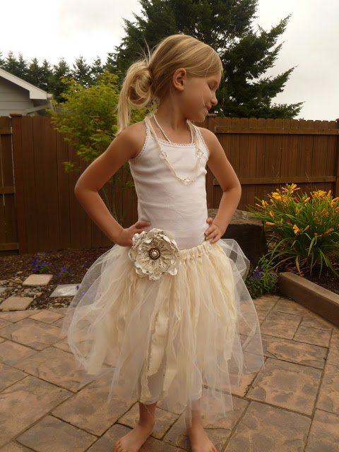 Shabby Chic Tutu & Flower Tutorial