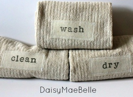 Hand Stamped Towels Tutorial