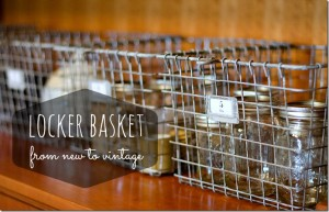 New Vintage Locker Baskets Tutorial