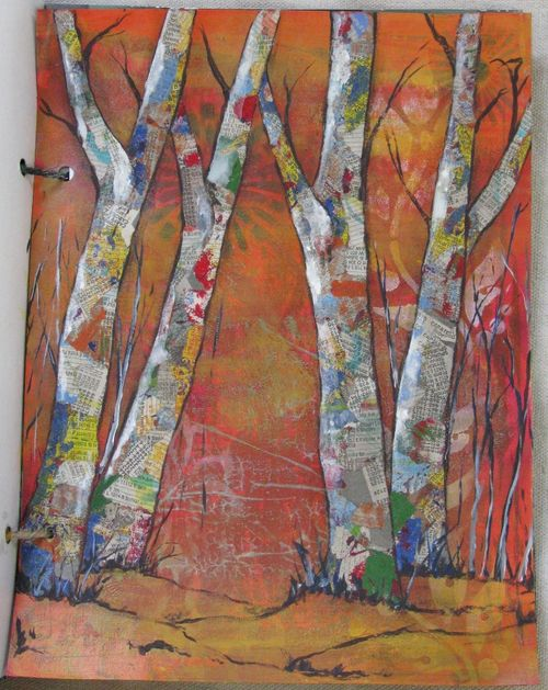 torn paper collage ideas