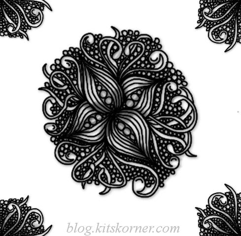 Digital Doodles : Floral Lines