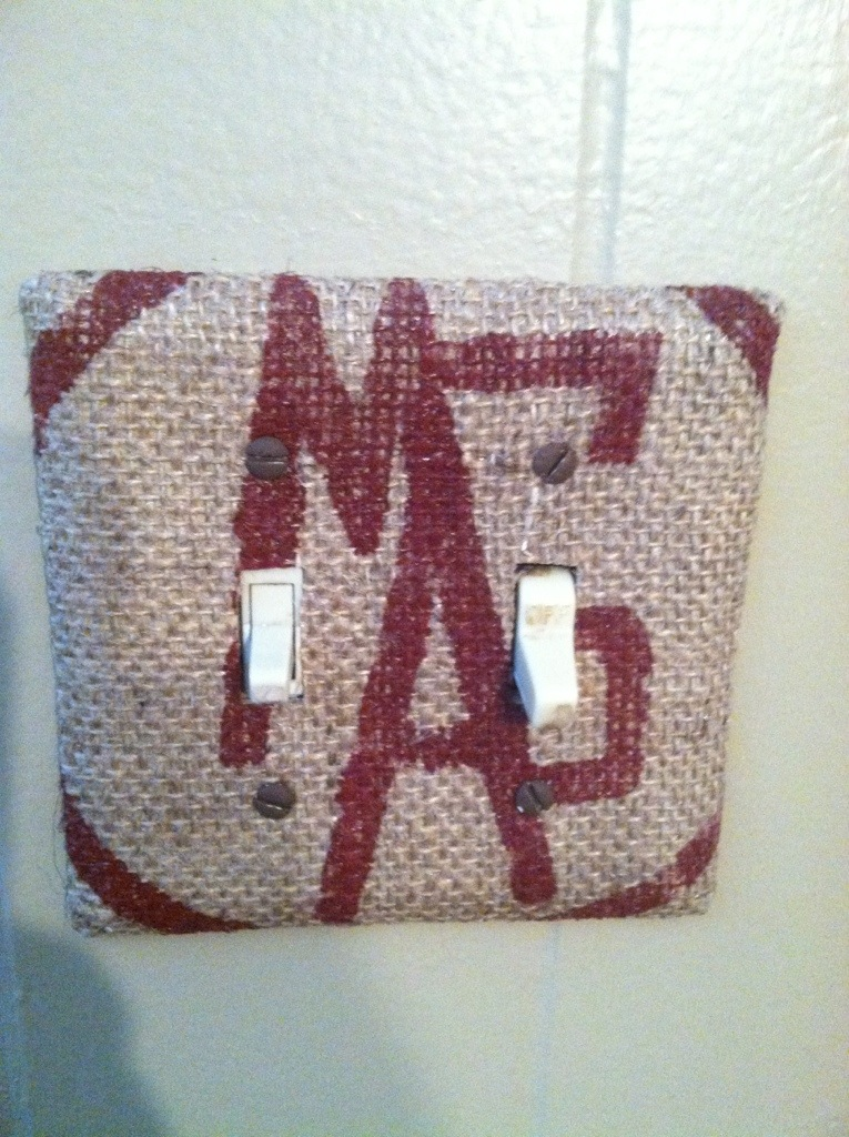 Burlap Switch Covers