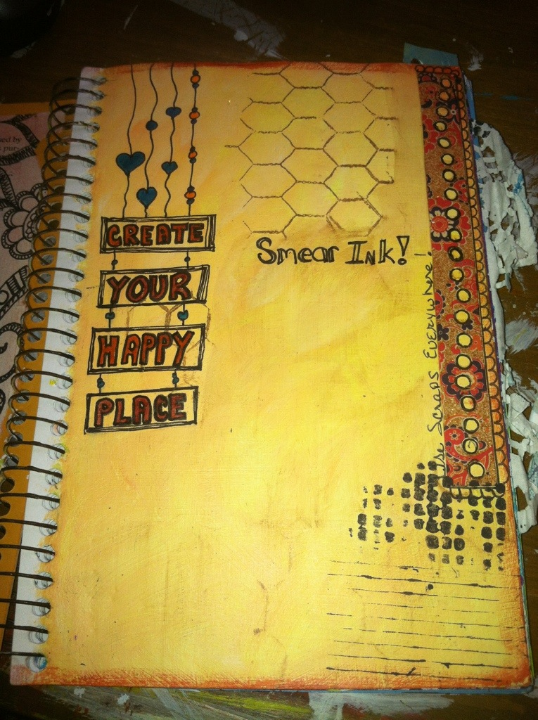 Happy Place : Art Journal Page
