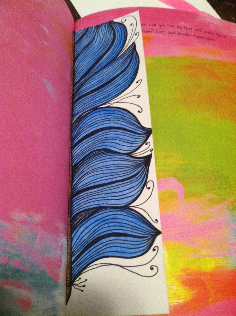 Doodle Art : Feather Bookmark