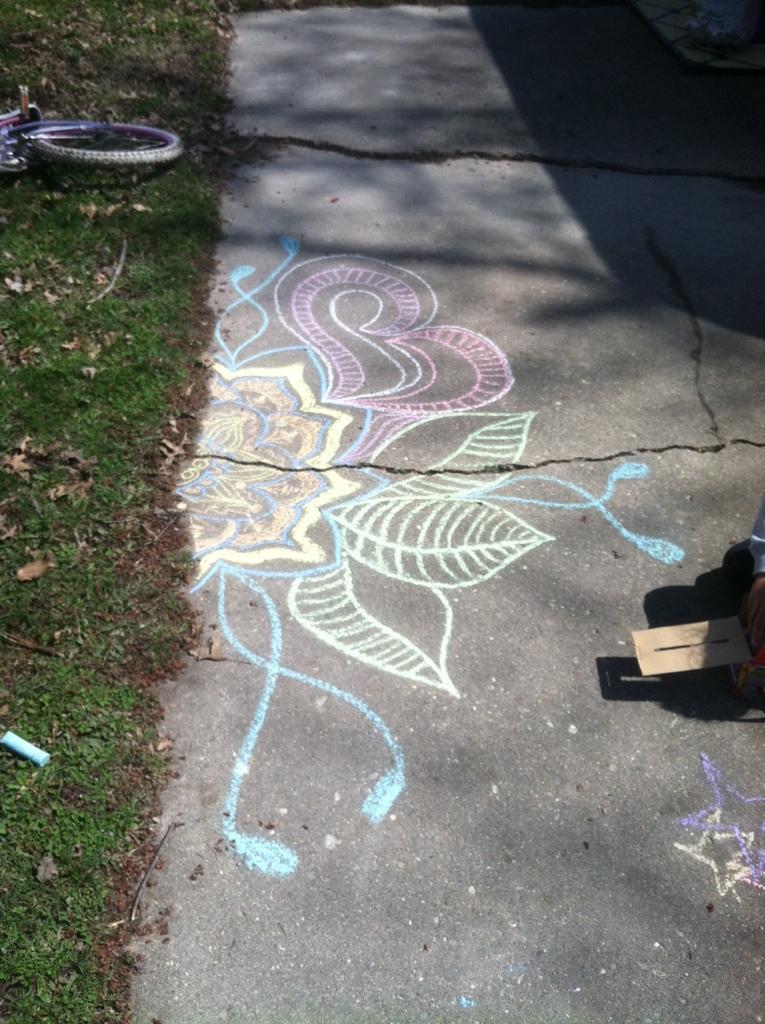 Sidewalk Doodling