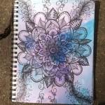 Sketchbook : Flower Mandala Doodle