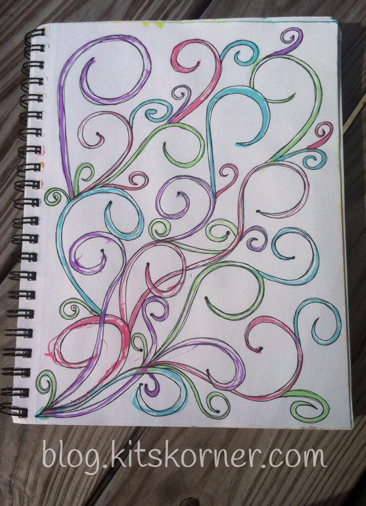 Sketchbook : Watercolor Swirls