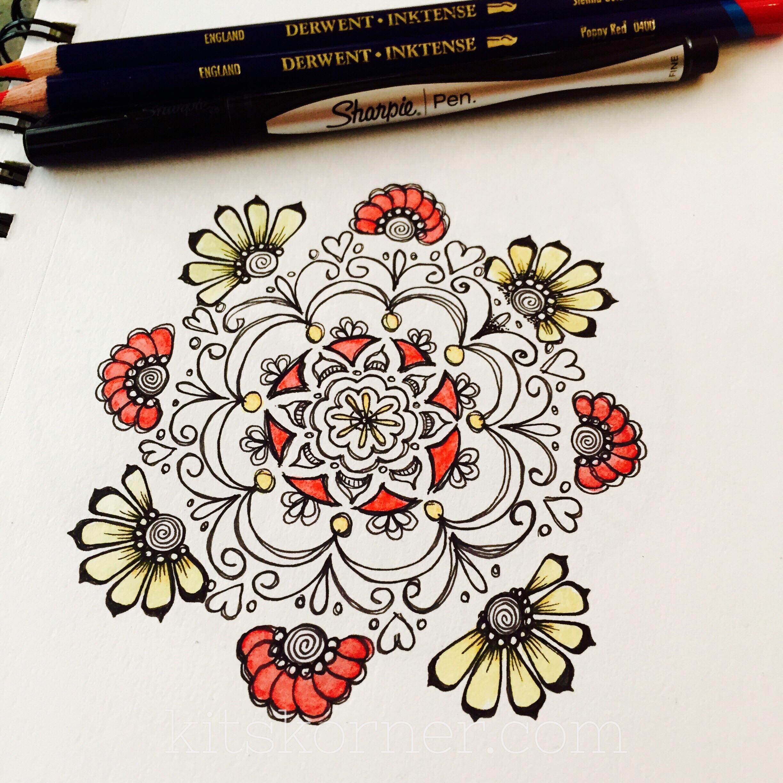 Sketchbook : Mandala With Color - KitsKorner.Com