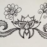 Sketchbook : Random Lotus Doodle