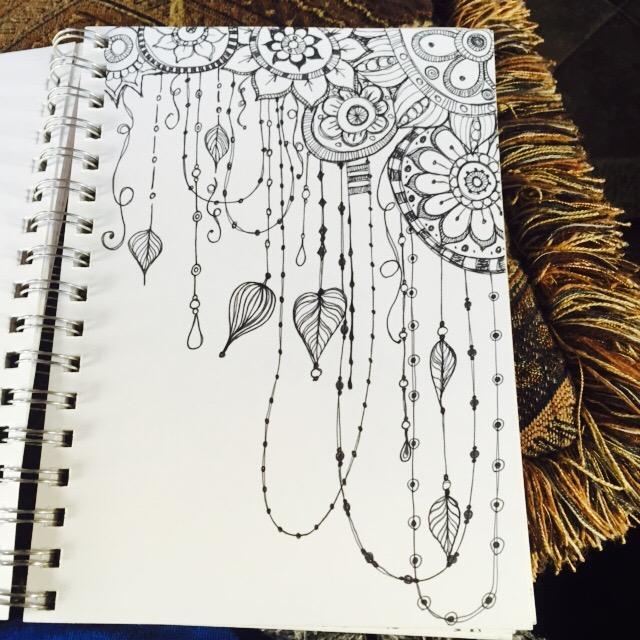 Line Drawing Doodles : Sketchbook quickie floral doodles kitskorner