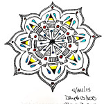 Sketchbook : 100 Mandalas Challenge Week 3