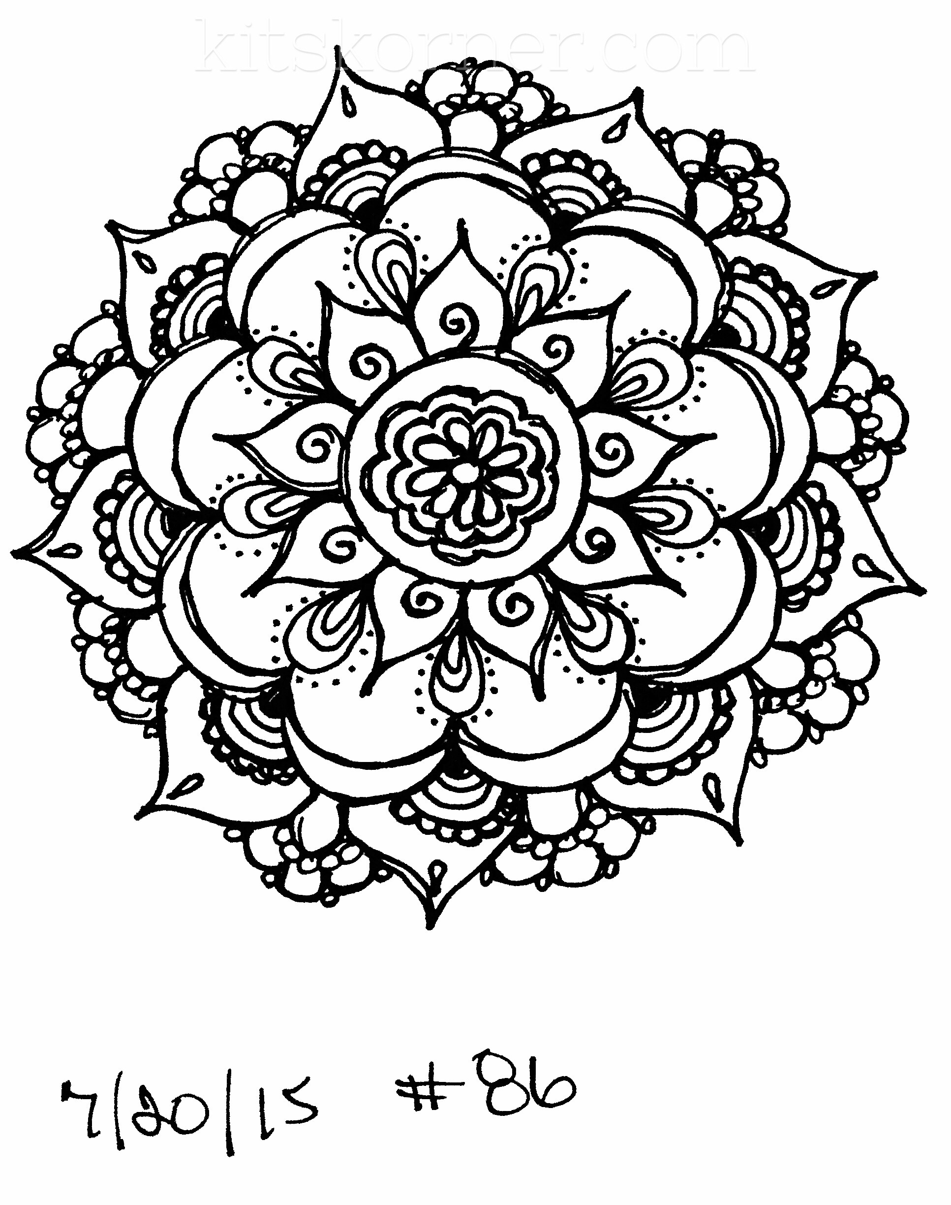 Sketchbook : 100 Mandalas Challenge Week 14