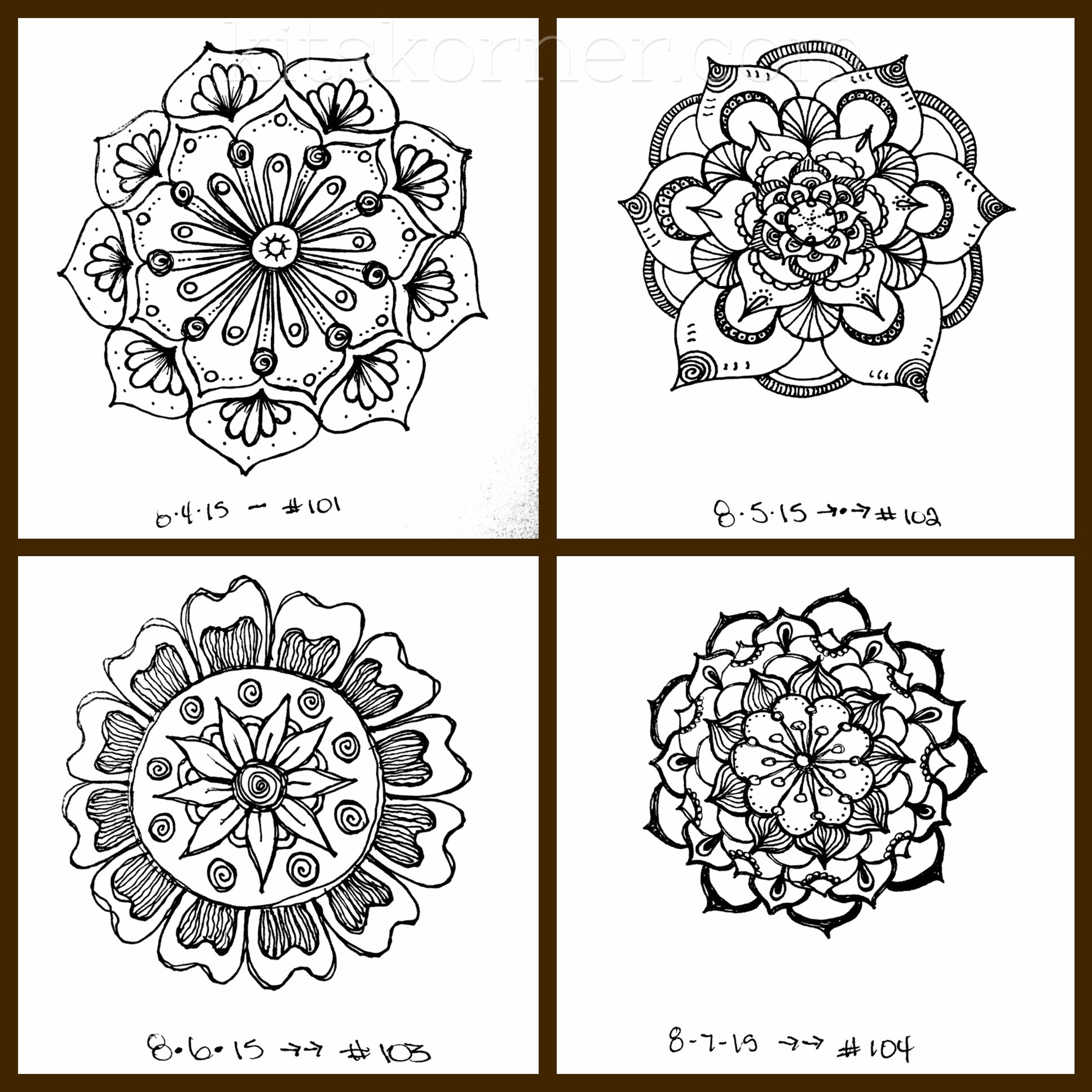 Sketchbook : Beyond 100 Mandalas