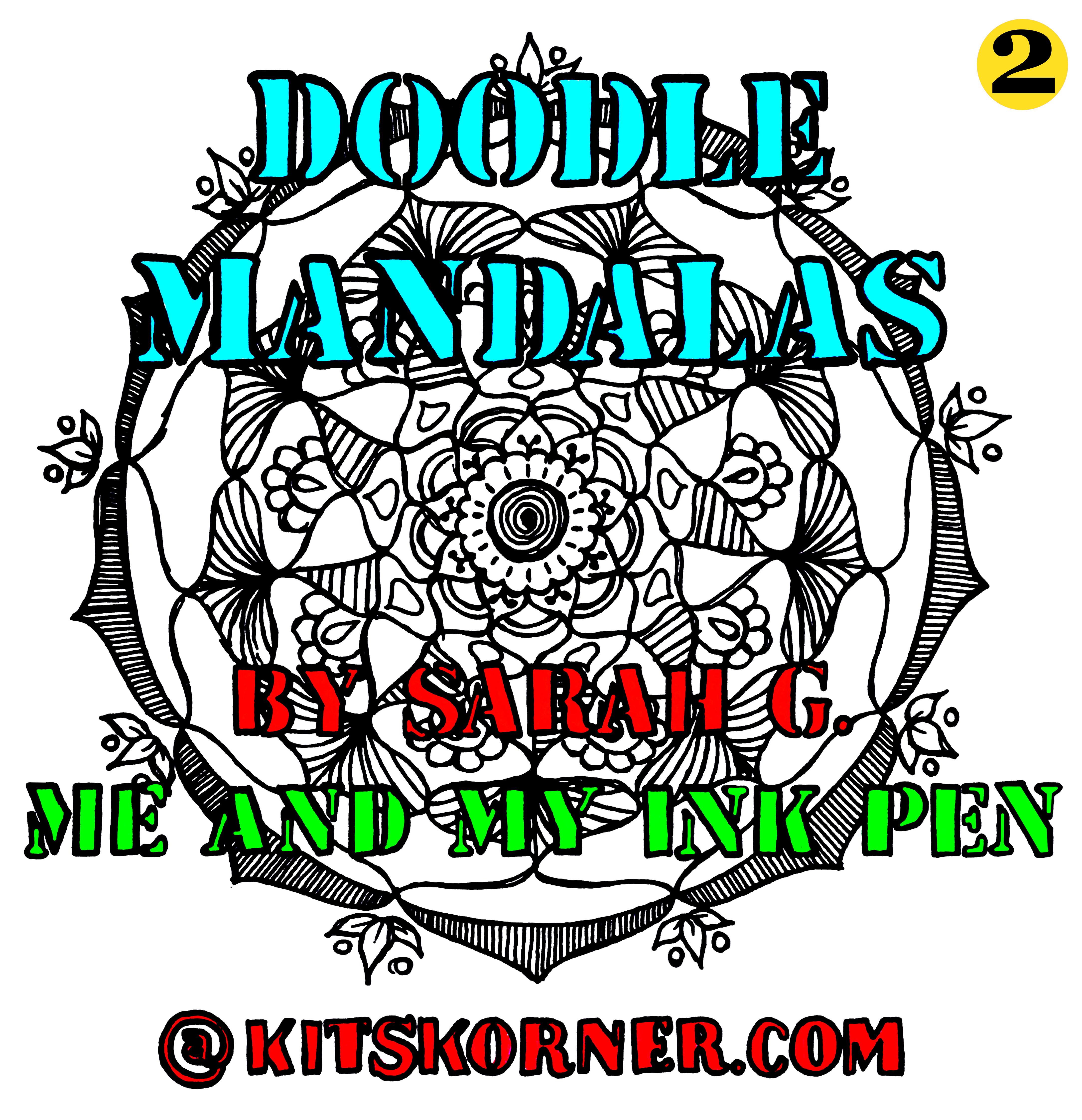 Free Coloring Book – Doodle Mandalas 2