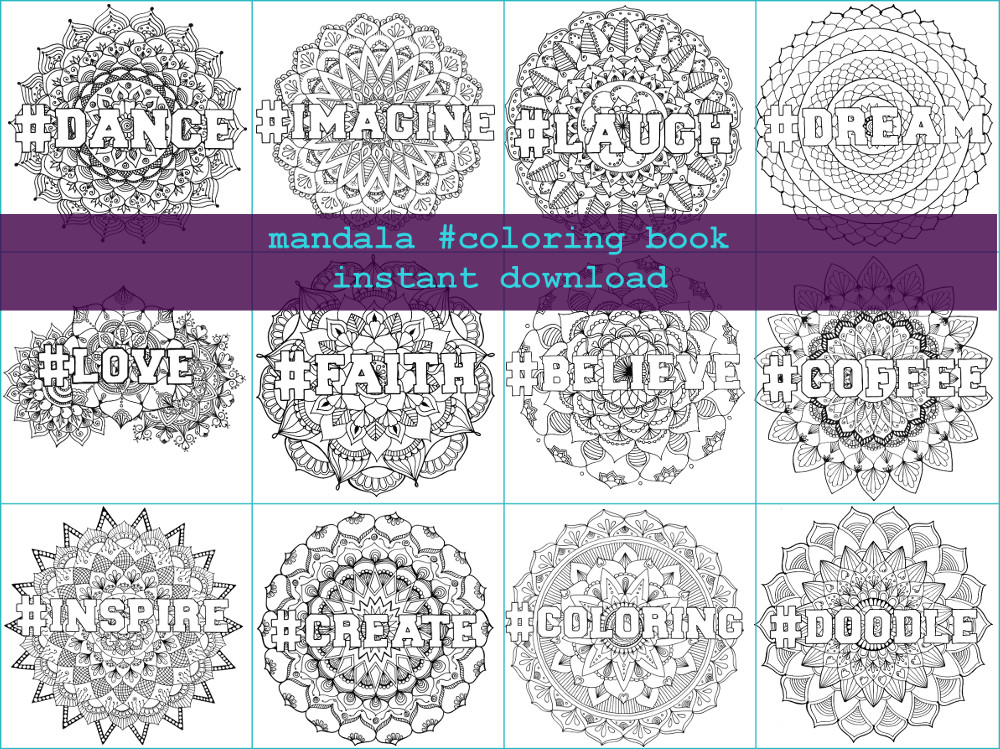 New Product : Mandala #Coloring Book