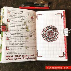 InstaDiary : Jun 5-9 Daily/Weekly Spread w/ Mandala Journal