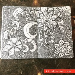 InstaDiary : An old floral doodle I ran