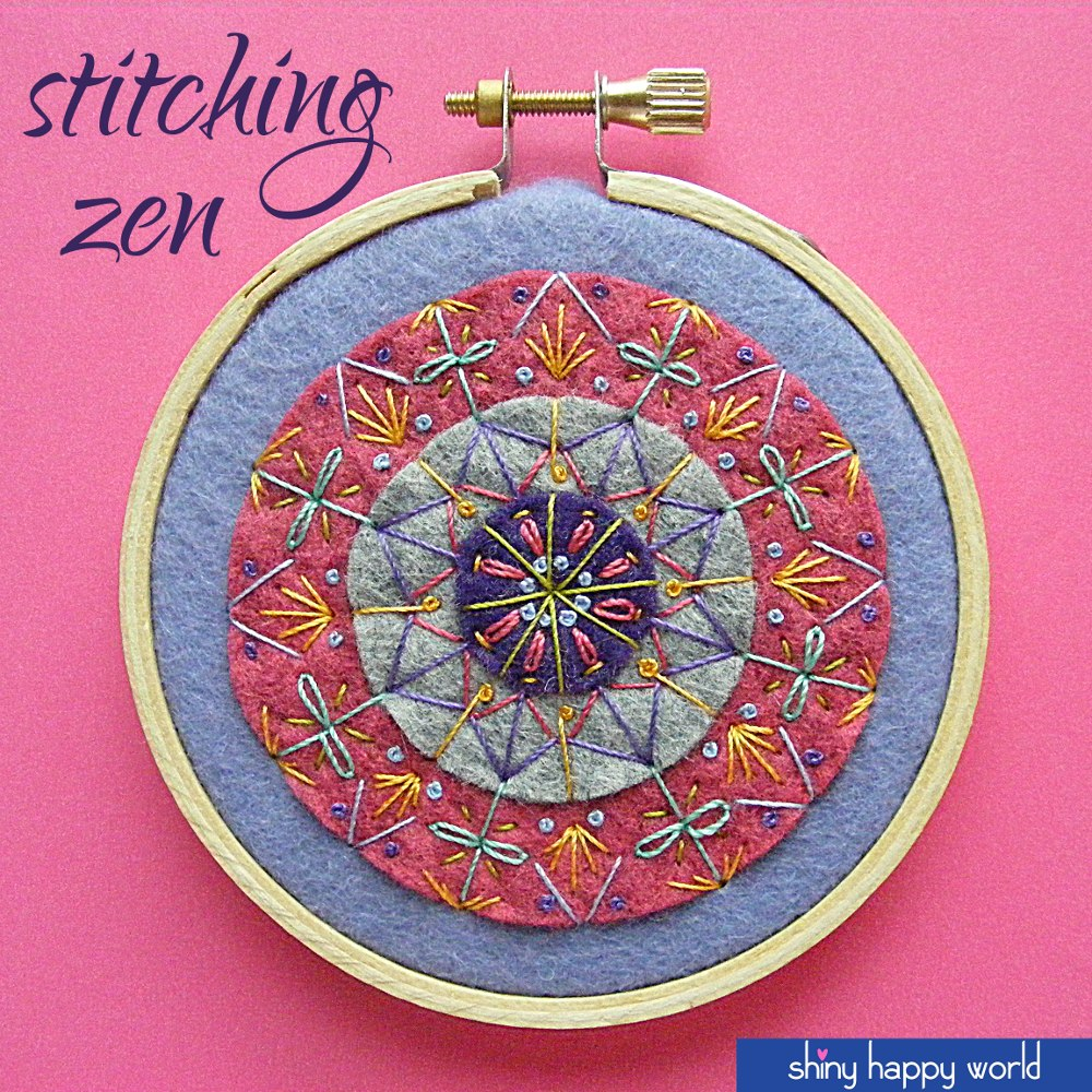 Zen Stitching Embroidery Mandala - Shiny Happy World