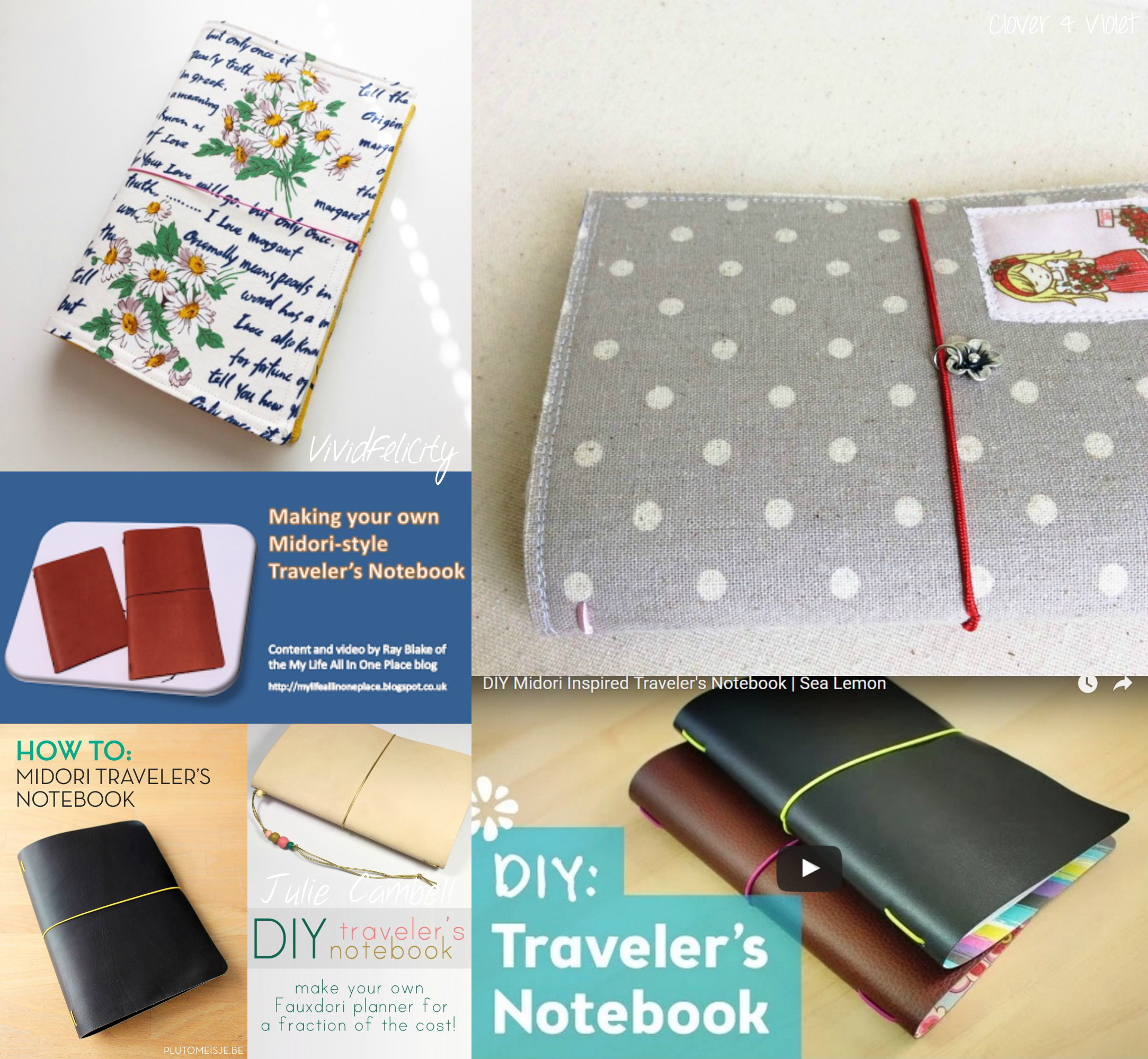 6 DIY Midori Traveler's Notebook Covers Tutorials