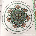June 27 – Mandala Journal Closeup…