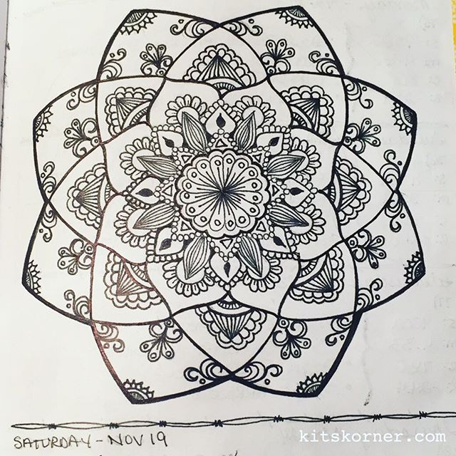 Nov 14-20 – Mandala Journal Closeup…