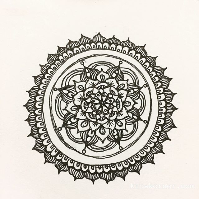Tiny sketchbook mandala while scheduling Dr appointments and surgery for my husband…..