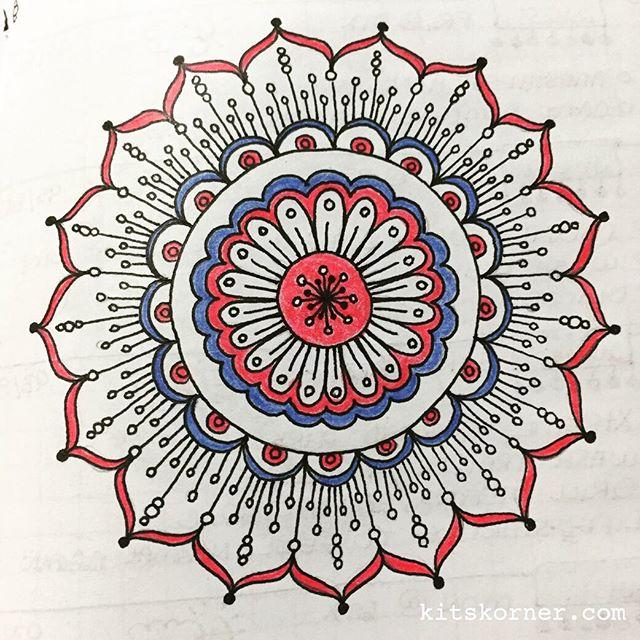 Jul 2-6 – Mandala Journal Closeup…