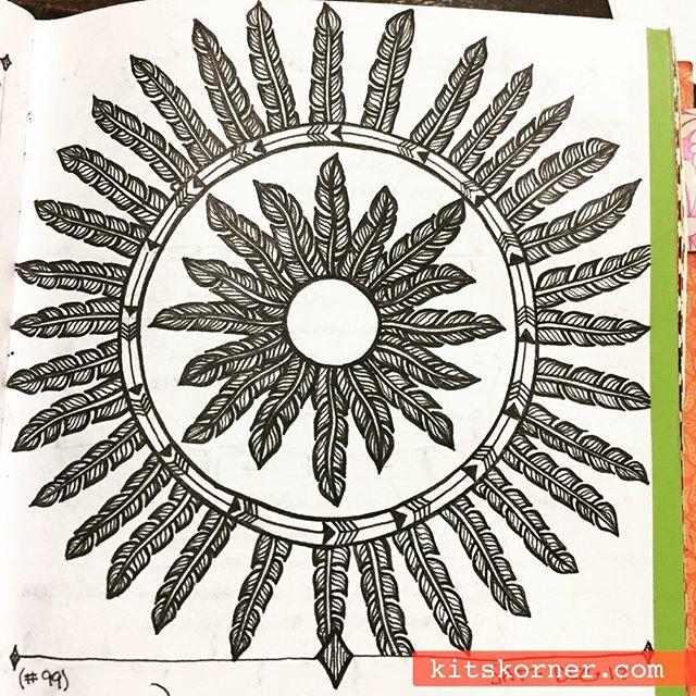 Dec 12-18 – Mandala Journal Closeup…