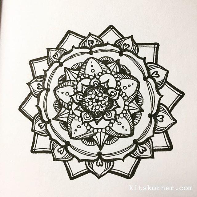 Mandala doodled at church this morning…..